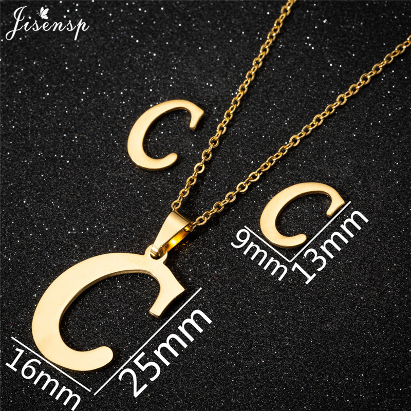 Jisensp Personalized A-Z Letter Alphabet Pendant Necklace Gold Chain Initial Necklaces Charms for Women Jewelry Dropshipping 6