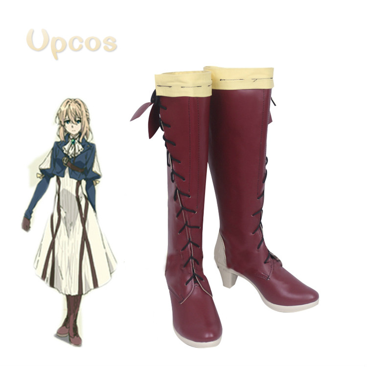 Violet Evergarden Shoes Violet Evergarden Boots Customer Size Made Anime Cosplay