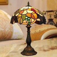 Tiffany 12 Inch Bedroom Bedside Lamp Manufacturers Selling European Creative 30CM American Restaurant Grape Glass Lamp