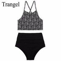 Trangel Brand New Bikini 2017 High Waist Swimsuit Summer Bikinis High Neck Swimwear Women Sexy Push