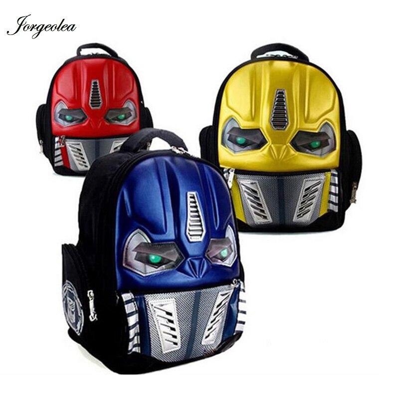 LED Flashing Light EVA 3D New Cartoon School Bags For Boys Little Children font b Backpacks