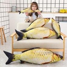1pc אופנה סימולציה קרפיון ממולא דגי כרית ילדים Creative ספה מיטת כרית לפייס תינוק ילדים צעצוע חג המולד מתנה