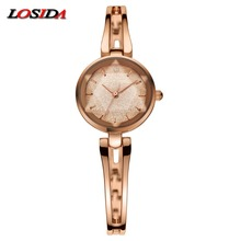 2017 New Brand Losida Fashion 18k Gold-plated Women Watches Waterproof Ladies Quartz Watch Women Wristwatches relogio masculino