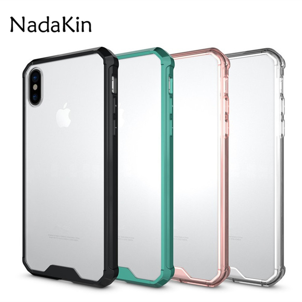 1a609d26cc New Hybrid TPU Acrylic Shockproof Armor Defender Case With Crystal Clear Back  Cover For Iphone 8 7 6 ...