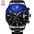TSS Homens Casual Assista Homens de Luxo em aço Inoxidável Relógios de Quartzo relógio de Pulso CHRONOGRAPH & 24 horas Função Sport Watch Relogio