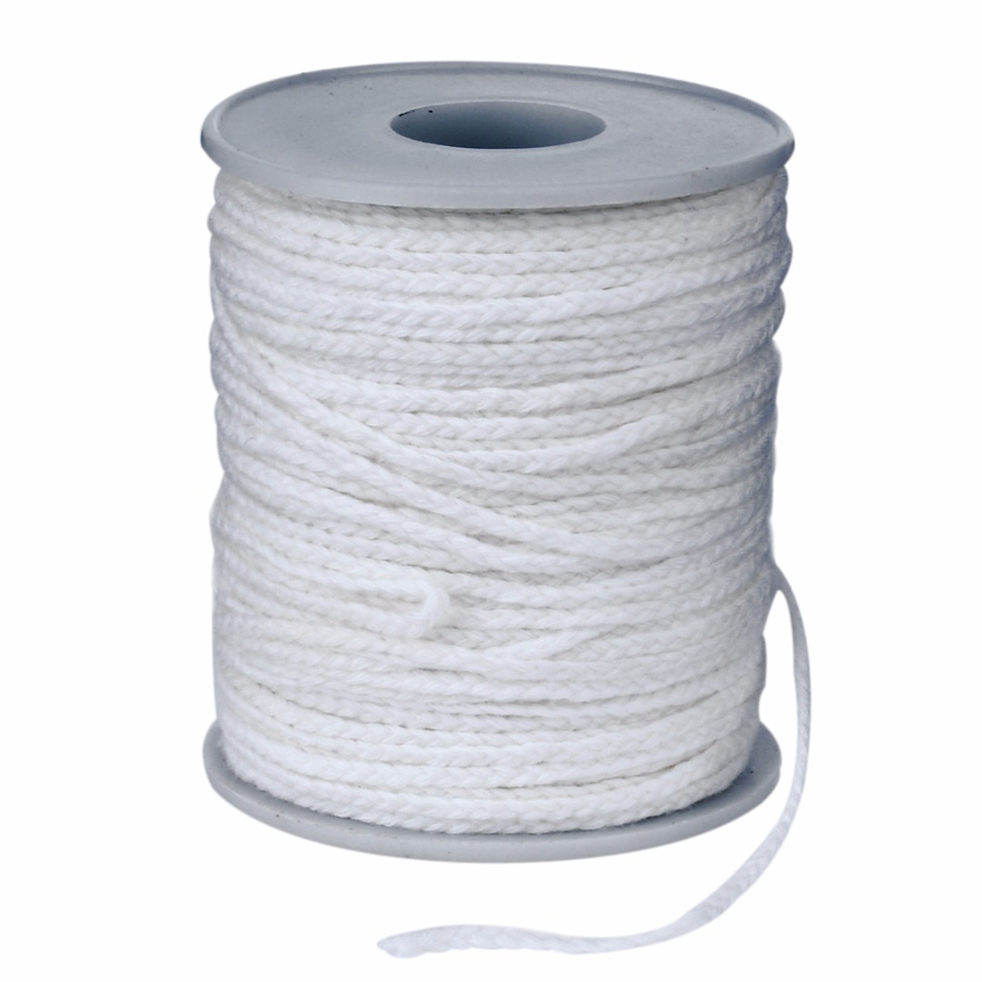 New Spool Of Cotton Square Braid Candle Wax Core 61m X 2.5mm For Candle Making Supplies