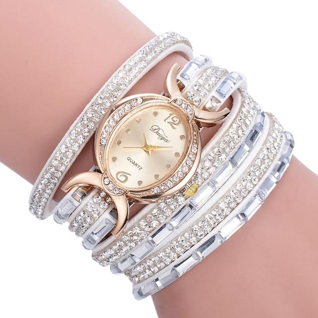 Gofuly New Casual Rhinestone Watch Dress Ladies Bracelet Watch Analog Quartz Wat