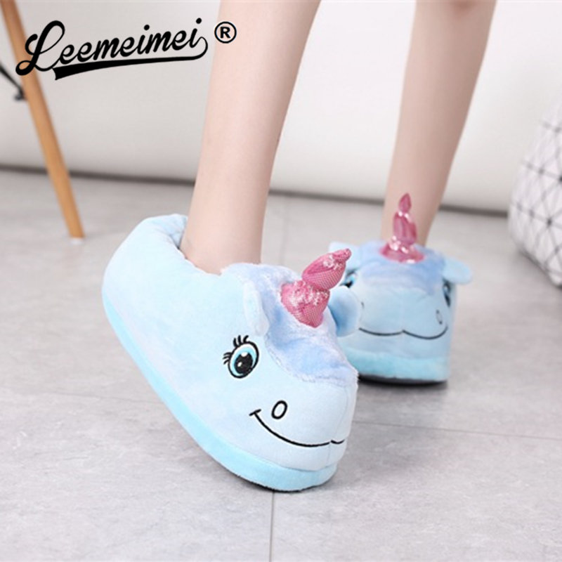 Winter Indoor Slippers Plush Home Shoes Unicorn Slippers for Grown Ups Unisex Warm Home Slippers Shoes Christmas gift winter indoor slippers plush home shoes unicorn slippers for grown ups unisex warm home slippers shoes christmas gift