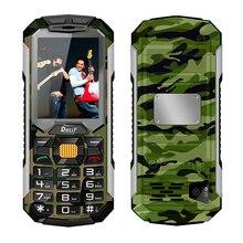 DBEIF C5000 Longue veille double carte sim lampe de poche banque de puissance FM radio haut-parleur bluetooth antipoussière choc mobile téléphone P251