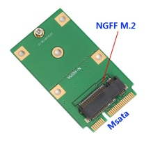M.2 NGFF B KEY SSD to mSATA SSD Adapter Converter Card Suitable for 2230 2242 SSD