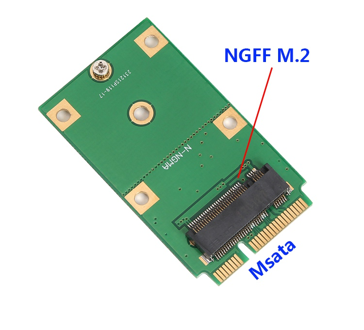 M.2 NGFF B KEY SSD to mSATA SSD Adapter Converter Card Suitable for 2230 2242 SSD(China)