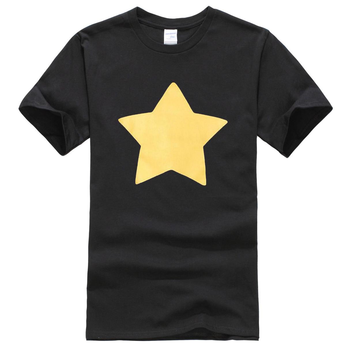 2019 Summer Short Sleeve T-shirt Printed STEVEN UNIVERSE STAR Pattern Fashion Cool Hip Hop Streetwear Men's T-shirts Harajuku