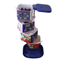 Kitchen creative vertical plastic rotary seasoning box for kitchen supplies cruet seasoning pot baking tools cool gadgets