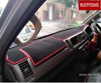 dashmats car styling accessories dashboard cover sun shade dash mat for Toyota hiace 2004 2005 2006 2007 2008 2009 2010 2017 RHD