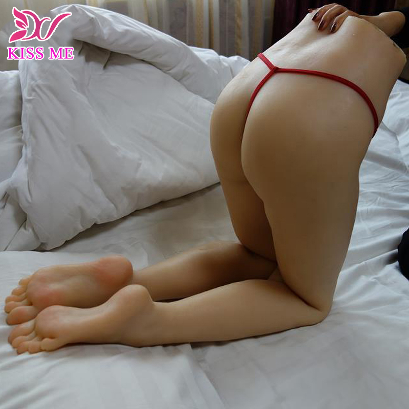 Top Quality 115Cm Real Silicone Sex Dolls Full Silicone Feet Sex Legs With Vagina Anal Real Life Size Pussy And Sex Products-In Sex Dolls From -8689