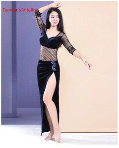 Image 3 - Belly Dance Practiceเสื้อผ้าฤดูหนาวใหม่กำมะหยี่เซ็กซี่เย็บDance Top Coatผู้ใหญ่ผู้หญิง