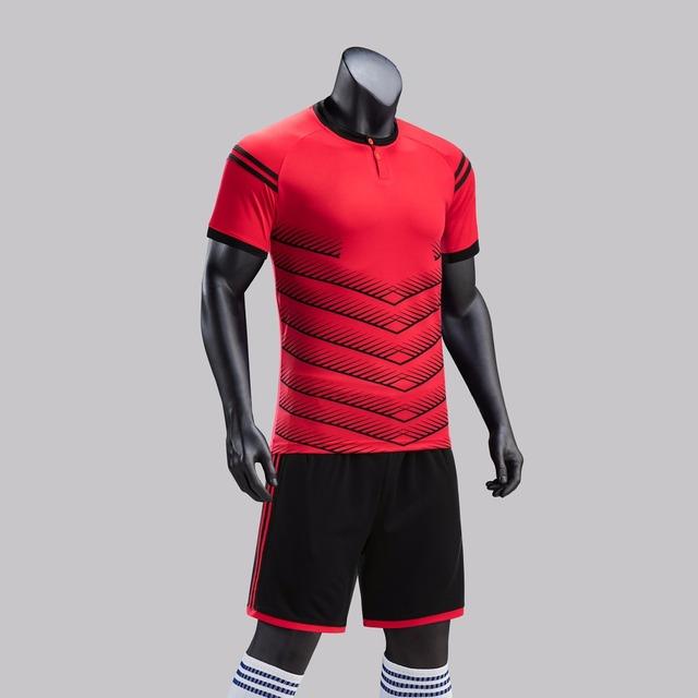Youth Kids Soccer Jerseys Sets Sports Football Jerseys Uniforms Child Kits Sports Shorts Tracksuits Breathable Customized Print