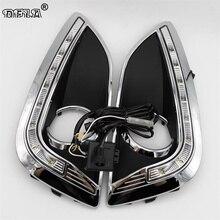 Свет автомобиля для Hyundai ix35 IX 35 2010 2011 2012 2013 автомобиль-Стайлинг СИД DRL дневные Бег свет водонепроницаемый Провода жгута