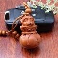 Nueva Creativo De Madera Tallada Colgante Llaveros Rodio Plateado Anillo de Joyería de Los Encantos Llaveros Mono Para Mujeres Hombres Regalo