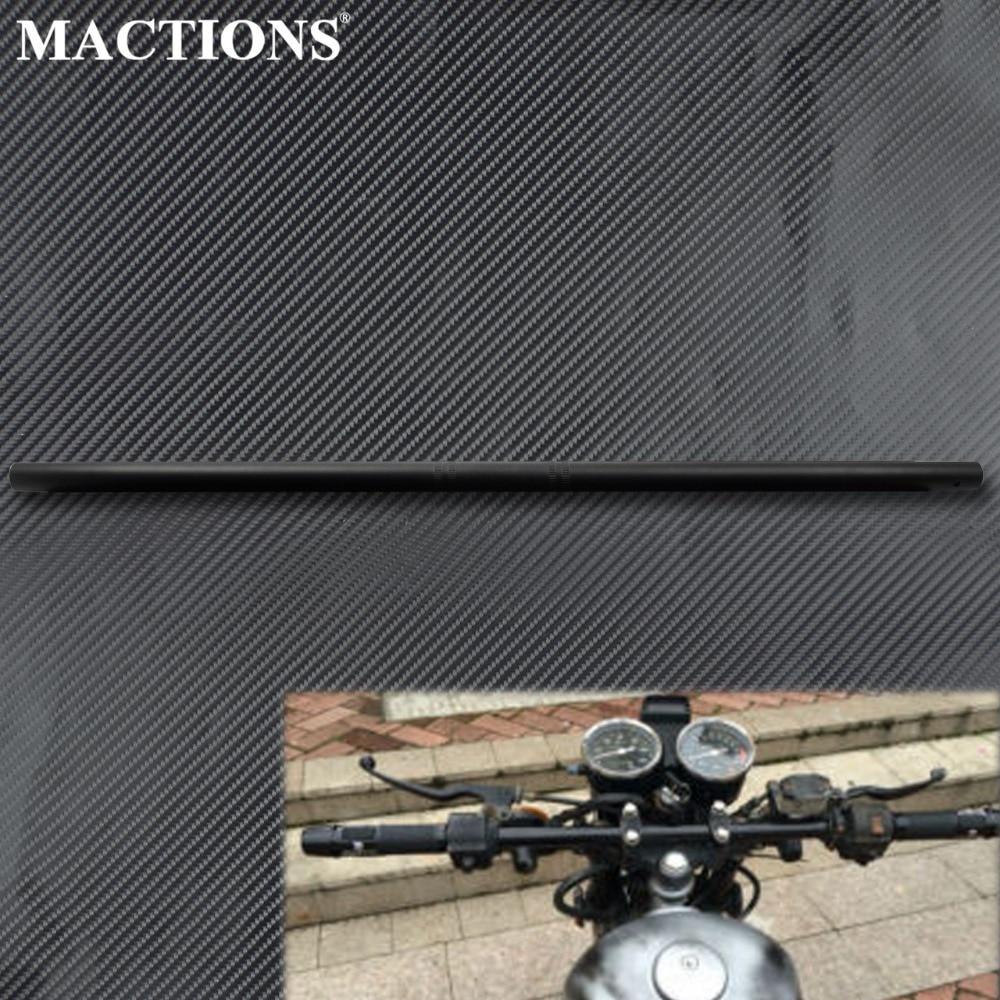 Motorcycle Universal 22mm 7/8'' Drag Handlebar Black Straight Handle Bars For Harley For Honda For Yamaha Cruisers Bobber Bike