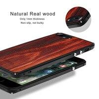 Showkoo Natural Wood Phone Case For IPhone 7 Plus 7 6S 6 Plus Original Wood Kevlar