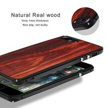Здесь можно купить  Showkoo Natural Wood Phone Case For iPhone 7 Plus 7 6S 6 Plus original wood+kevlar Metal perfect Integrated phone cover Case New
