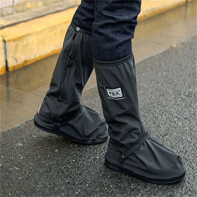 Hot Sell Creative Waterproof Reusable Motorcycle Cycling Bike Rain Boot Shoes Covers Rainproof Shoes Cover Rainproof Thick