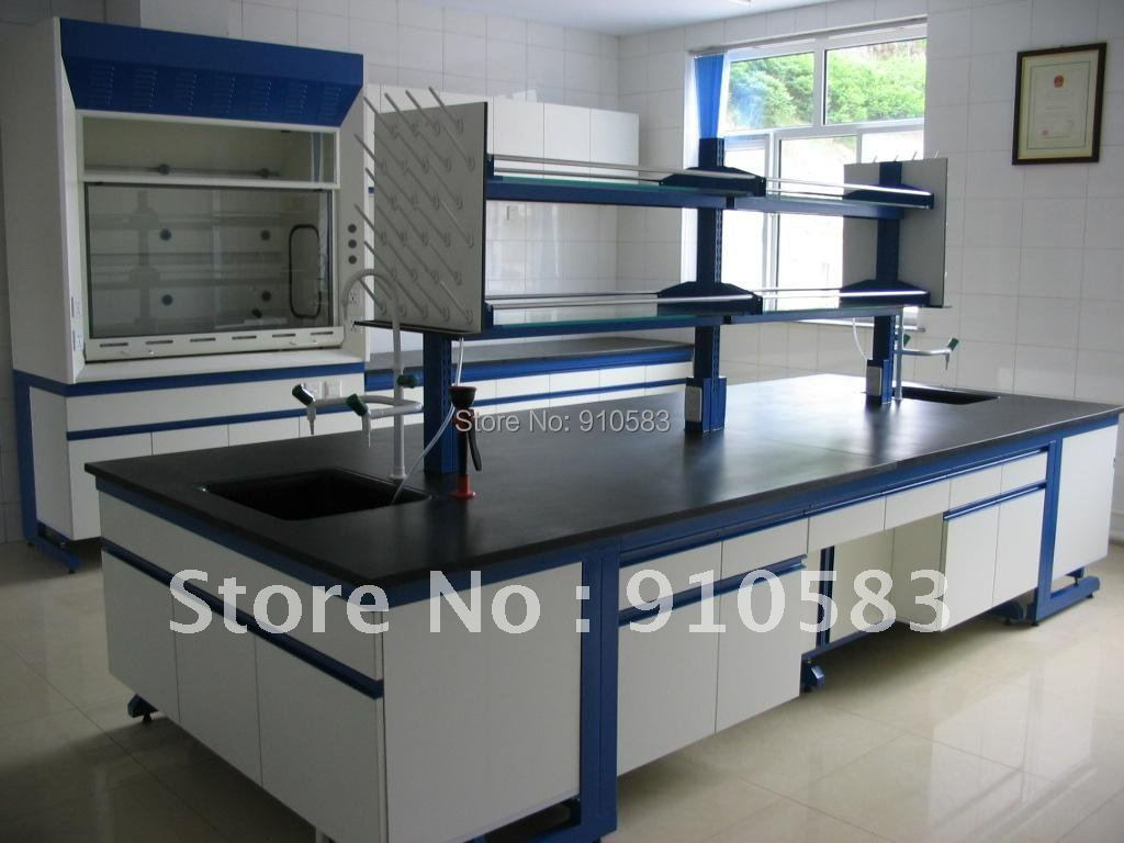 Lab Furniture 3 0 Meters Length Steel Lab Central Bench