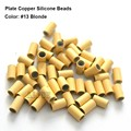 1000pcs 3.2*2.0*3.8mm Plate edge copper silicone Micro beads Silicone lined Links tube for I tip Hair Extension tools
