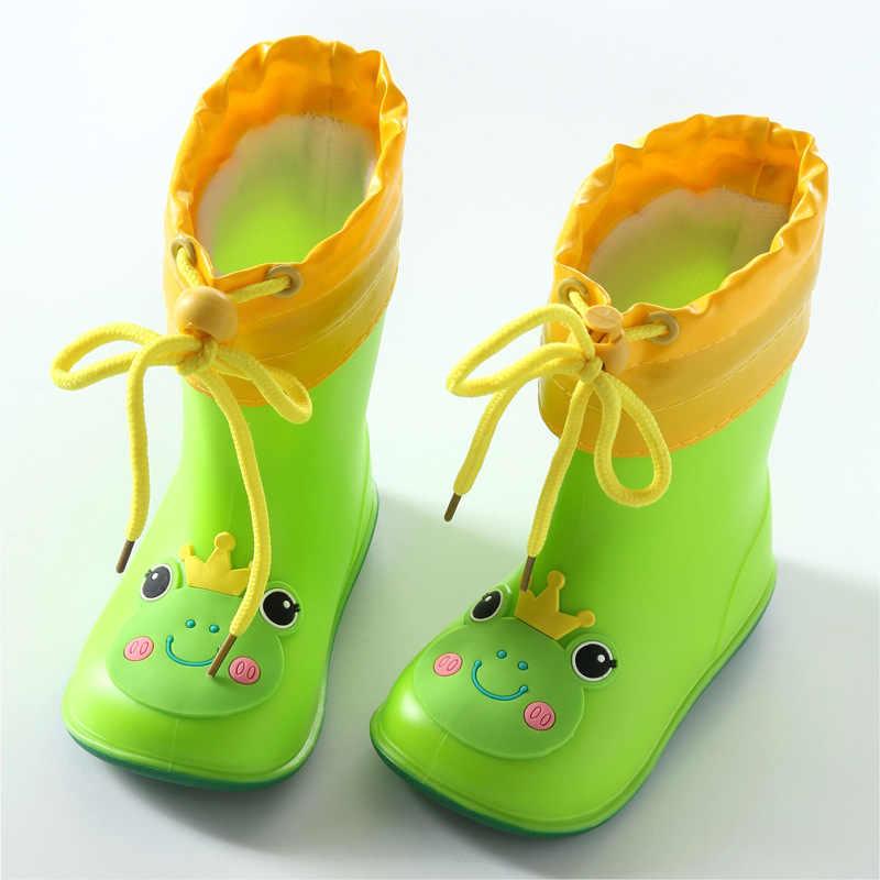 Sonbahar Kış Çocuk yağmur çizmeleri Sıcak Peluş Su Geçirmez Çocuk yağmur ayakkabıları Erkek Kız Bebek lastik çizmeler Yumuşak PVC Kar Botları CSH789