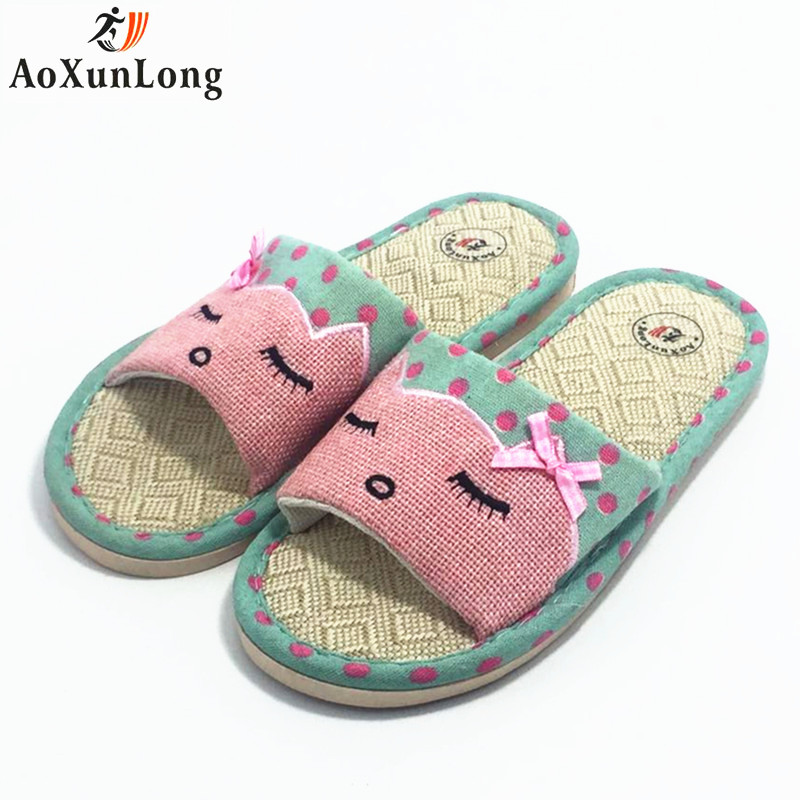 Spring Home Slippers Flat Burlap Soft Slippers Women Cute Smiley Indoor Clamshell Slide Shoes Woman Red Size Eu 36-39 Pantufa 8 запчасти для мотоциклов yamaha xjr400 xjr1300 fz400