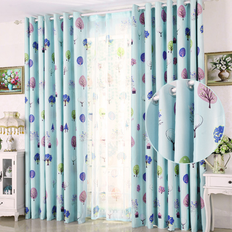 Stylish Leaves Drape Panel Valance Shade Curtain/Sheer Tulle Curtain Home Decor Curtains for Living Room Home textile