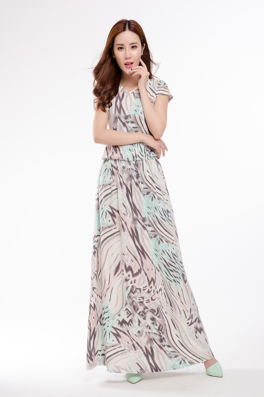 Knitting Summer Dress : Women draped knit jersey long dresses plus size
