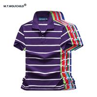 Hot Sale 2017 Summer Mens Brand Short Sleeve Striped Polo Shirts Casual Cotton Mens Clothing Tops