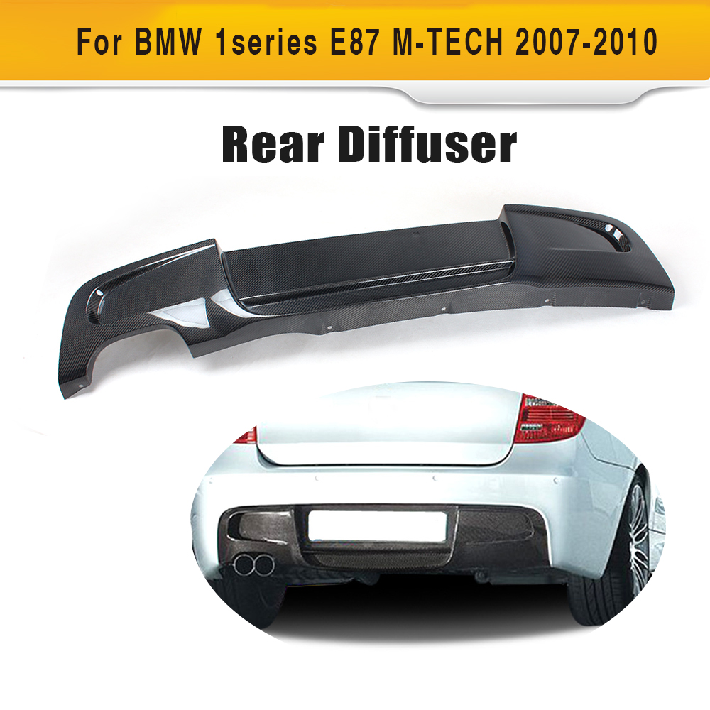 1 series carbon fiber rear bumper lip spoiler diffuser for bmw e87 m sport hatchback only