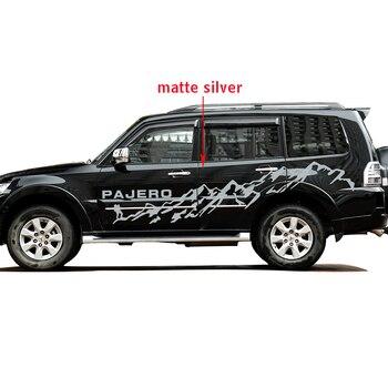 ملصقات السيارات 2 قطعة سيارة الجانب الجسم الجبال التصميم الرسم الفينيل اكسسوارات السيارات ملصقات مخصصة لميتسوبيشي باجيرو الرياضة