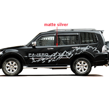 car stickers 2pc car side body mountains styling graphic vinyl car accessories stickers custom for mitsubishi pajero sport