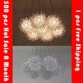 Мяч из алюминиевой проволоки Led подвесной светильник Звезда шар подвесные лампы для столовой спальни ресторанов droplight чердак огненный шар
