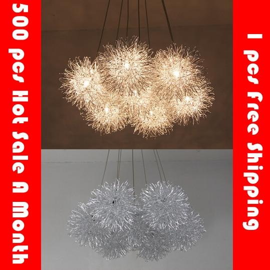 Aluminum wire Ball Led pendant light Star ball hanging lamps for dining room bedroom restaurants droplight loft Fireball audix fireball
