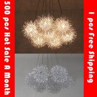Palla filo di alluminio luce del pendente del Led Star ball Fireball droplight loft lampade a sospensione per la sala da pranzo camera da letto ristoranti