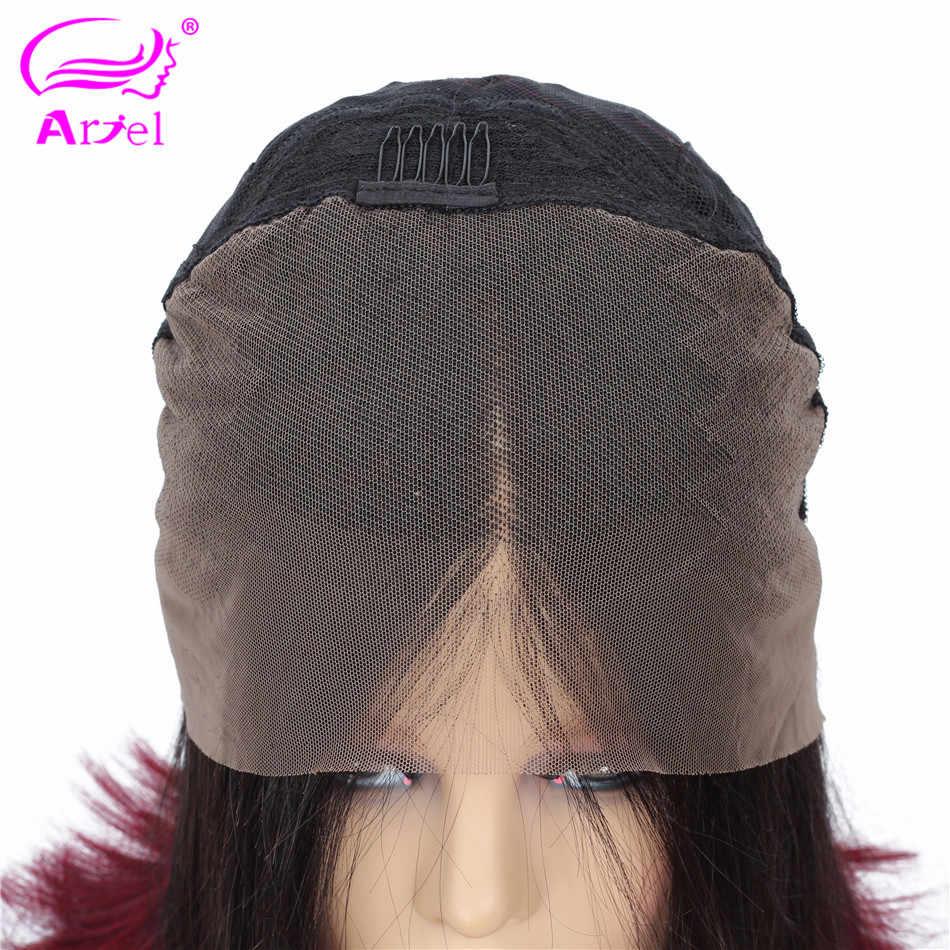 Ombre koronki przodu peruka 1b 99J różowy Bob koronki przodu peruk 13x4 koronki przodu włosów ludzkich peruk malezja remy ludzki włos prosto 613 koronki przodu peruka