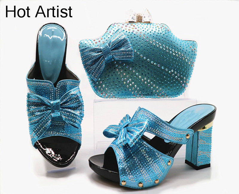 Hot Artist Latest Italian Woman Shoes And Bags To Match Shoes With Bag Set Italy Nigerian