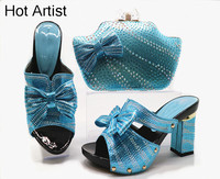 Hot Artist Latest Italian Woman Shoes And Bags To Match Shoes With Bag Set Italy Nigerian Party Shoes And Bag Set Size 38 42 G46