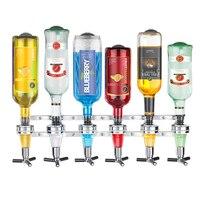 Wall Mounted 6 station Liquor Bar Butler Wine Dispenser Machine Drinking Pourer Home Bar Tools For Beer Soda Coke Fizzy Soda