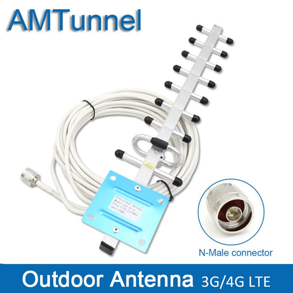 3G 4G antenna 4G LTE1800Mhz yagi outdoor antenna 3G external antenna 3g antenna with N male connector for mobile signal booster-in Communications Antennas from Cellphones & Telecommunications