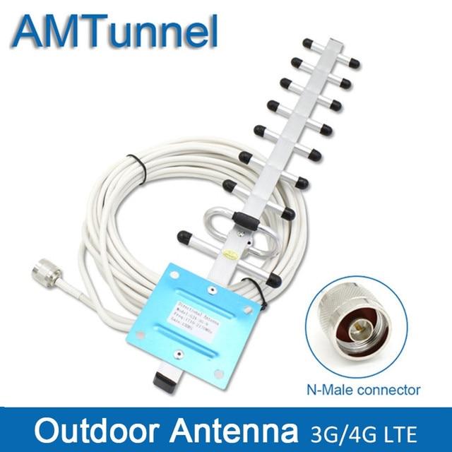 3G 4G ăng ten 4G LTE1800Mhz Yagi ăng ten ngoài trời 3G ăng ten ngoài anten 3G với N đầu nối nam cho di động tăng cường tín hiệu