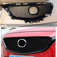 Для Mazda 6 Atenza 2017 2018 передний бампер Гриль верхняя решетка черный авто запчасти и аксессуары