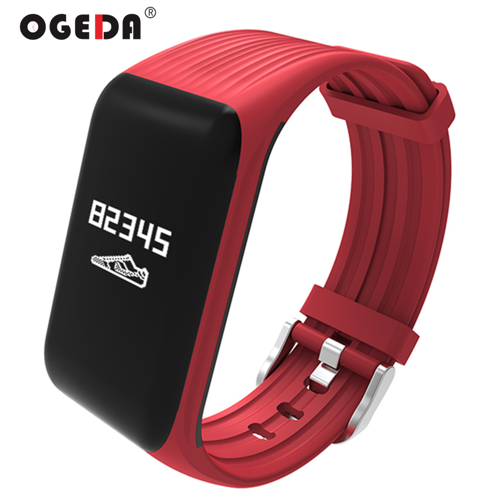 Smart Watch Women Heart Rate Monitor Smart Bracelet K1 Fitness Tracker Smart Bracelet Heart Rate Monitor Waterproof Sports OGEDA цена 2017