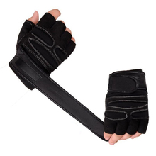 цена на Anti Slip Weight Lifting Gloves Half Finger Fitness Wrist Wraps Sports Gym Training Outdoor Bycicle Exercise Body Building