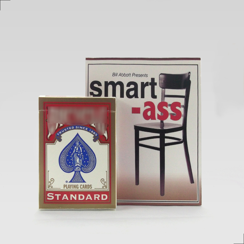 Smart Ass Gimmick Deck Set Magic Tricks Card Magia Magician Close Up Stage Illusion Accessories Mentalism Funny